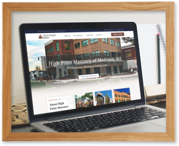 High Point Masonry Website Case Study
