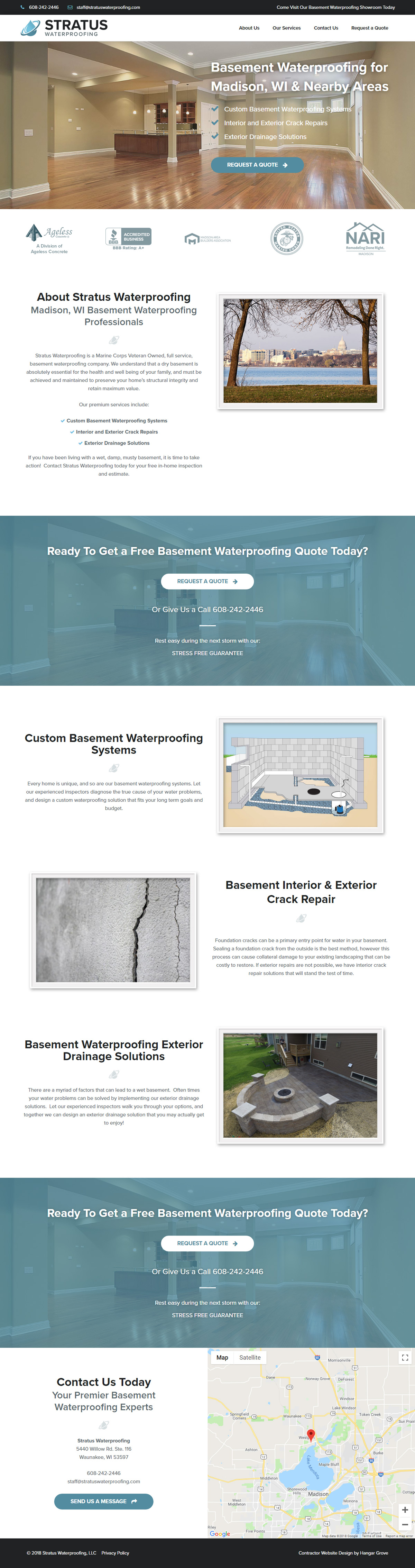 Stratus Waterproofing Case Study Homepage