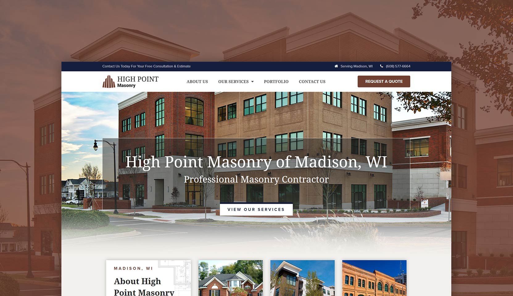 High Point Masonry Header Design