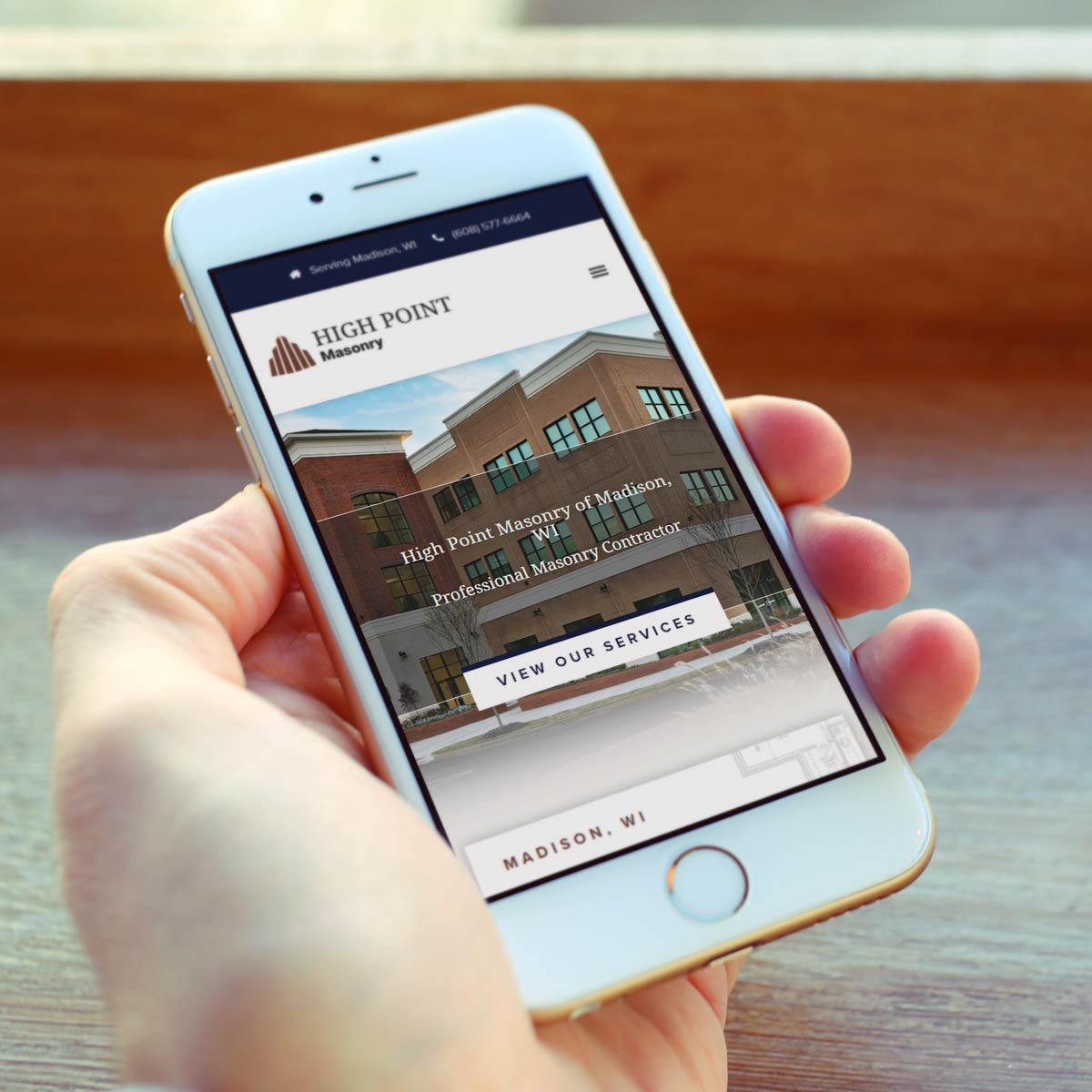 High Point Masonry Mobile Website Design